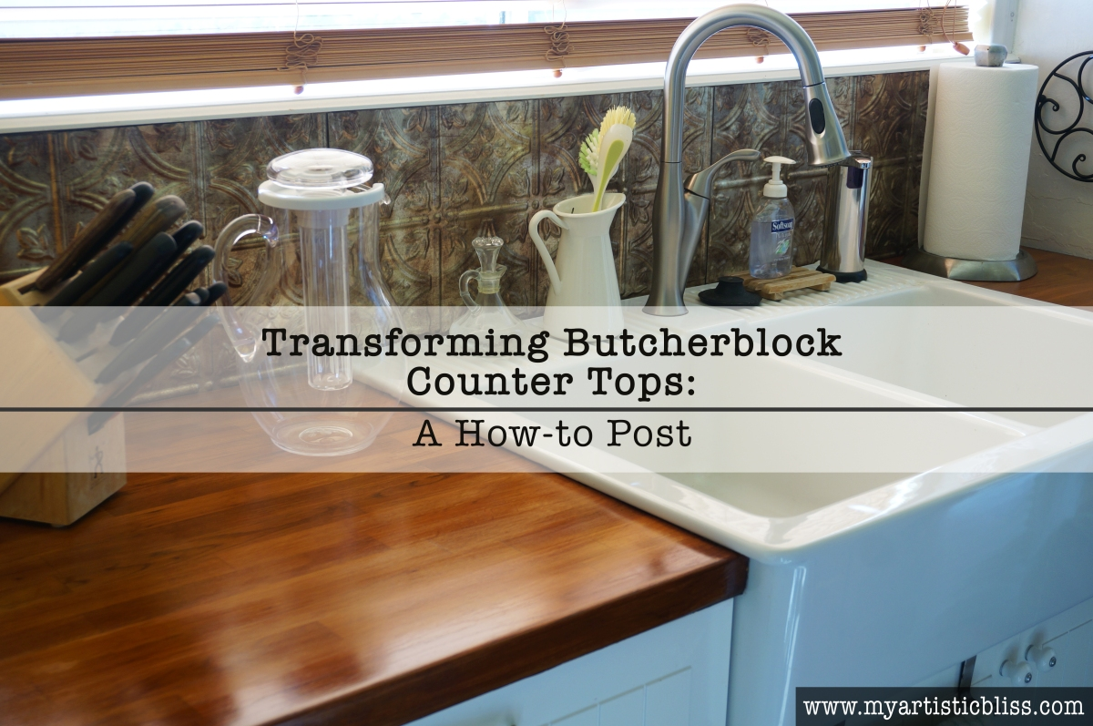 How to refinish butcher block counter tops